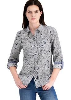 Tommy Hilfiger Cotton Paisley Roll-Tab Shirt
