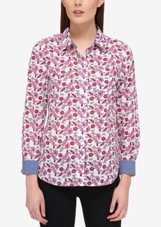 Tommy Hilfiger Cotton Printed Blouse, Only at Macy's