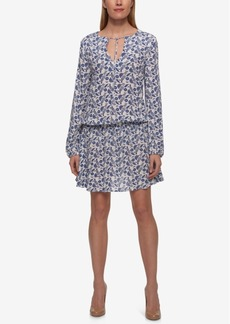 Tommy Hilfiger Cotton Printed Peasant Dress, Only at Macy's