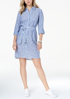 Tommy Hilfiger Cotton Printed Shirtdress, Created for Macy's