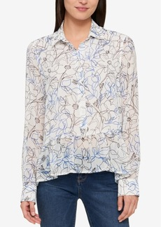 Tommy Hilfiger Cotton Ruffled Blouse, Created for Macy's