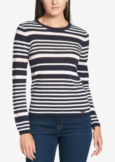 Tommy Hilfiger Cotton Sequined-Stripe Sweater, Created for Macy's