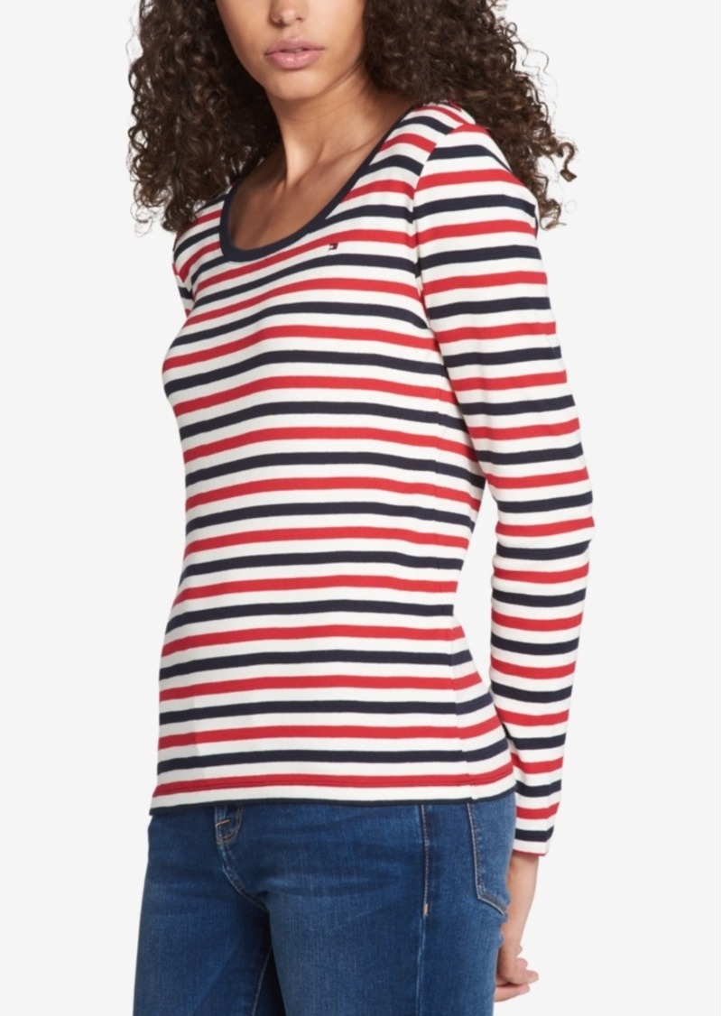 85030fd07 Cotton Striped Long-Sleeve T-Shirt, Created for Macy's. Tommy Hilfiger