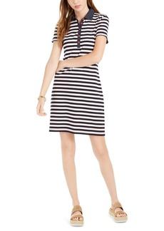 Tommy Hilfiger Cotton Striped Polo Dress