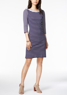 Tommy Hilfiger Cotton Striped Sheath Dress, Only at Macy's