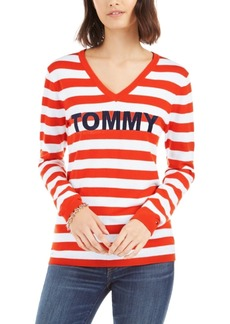 Tommy Hilfiger Cotton Striped Sweater, Created for Macy's