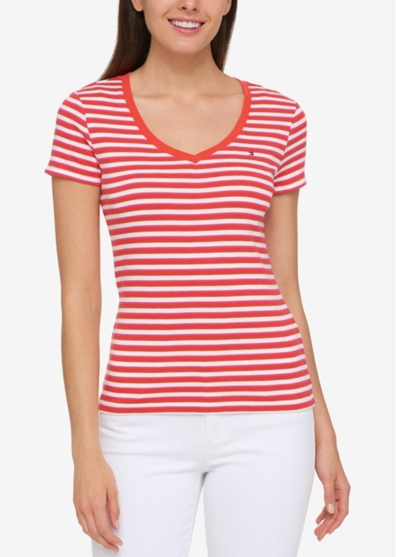 Tommy hilfiger tommy hilfiger cotton striped t shirt for Tommy hilfiger fitzgerald striped shirt