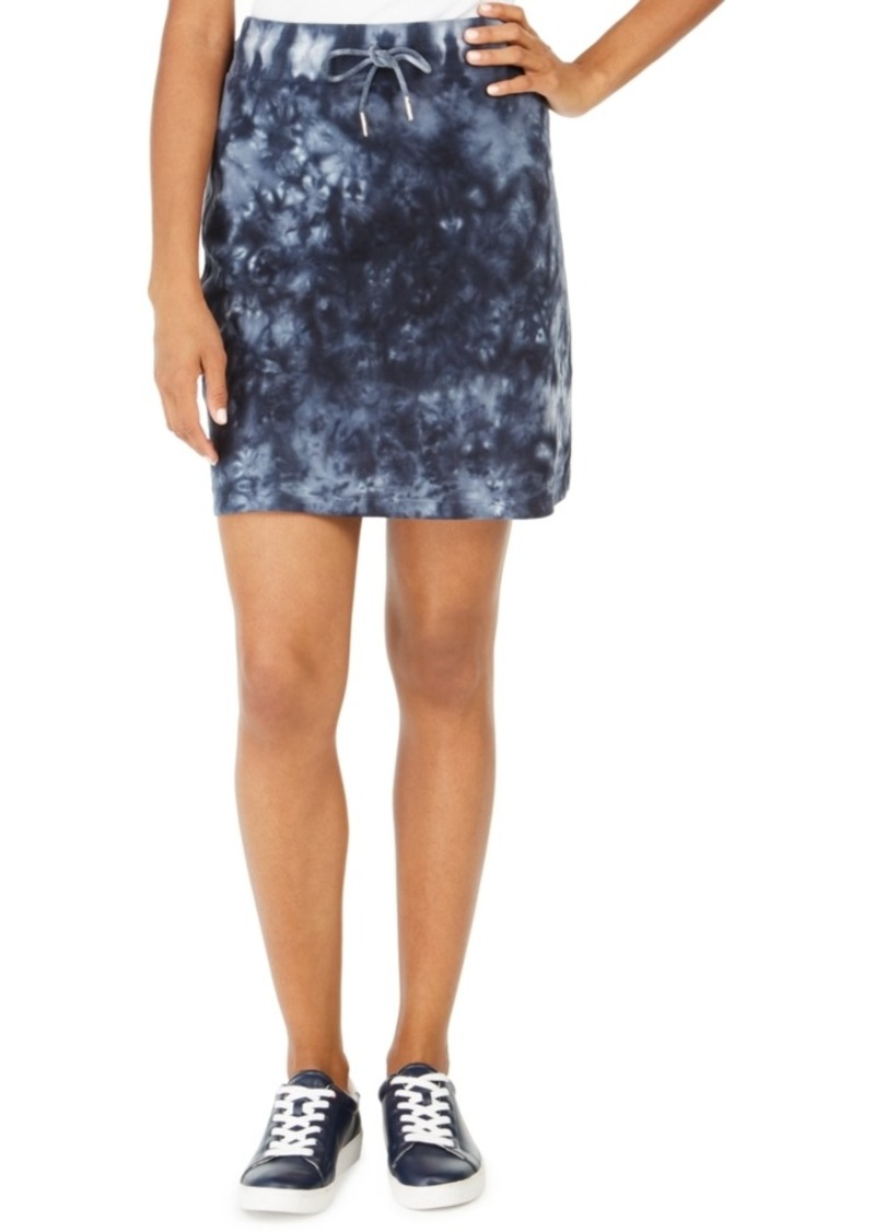 Tommy Hilfiger Cotton Tie-Dyed Drawstring Skirt, Created For Macy's