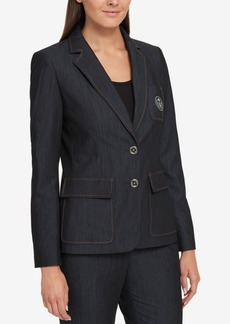 Tommy Hilfiger Crested Two-Button Blazer, Created for Macy's