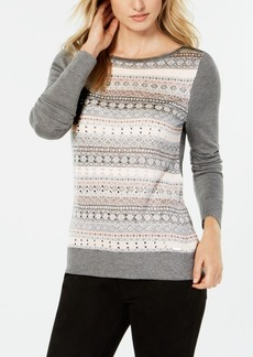 Tommy Hilfiger Crew-Neck Fair Isle Sweater, Created for Macy's