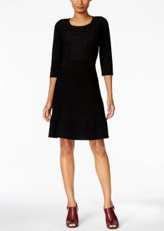 Tommy Hilfiger Crochet Ribbed Sweater Dress
