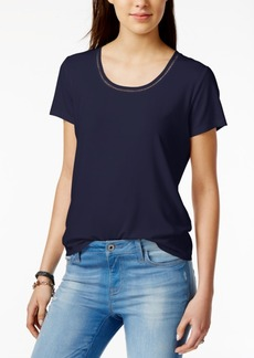 Tommy Hilfiger Crochet-Trim T-Shirt, Created for Macy's