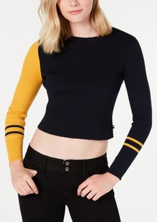 Tommy Hilfiger Cropped Colorblocked Sweater, Created for Macy's