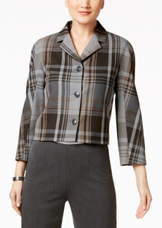 Tommy Hilfiger Cropped Plaid Jacket