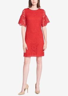 Tommy Hilfiger Crystal Lace Ruffle-Sleeve Dress