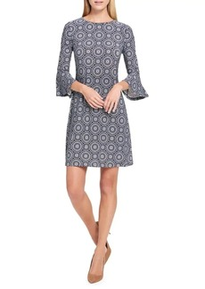 Tommy Hilfiger Daisy Chain-Print Bell-Sleeve A-Line Dress