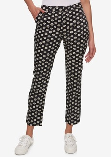 Tommy Hilfiger Daisy-Print Slim Pants, Only at Macy's