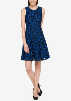 Tommy Hilfiger Denim Lace Fit & Flare Dress