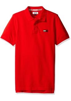 Tommy Hilfiger Denim Men's Basic Big Flag Polo Short Sleeve