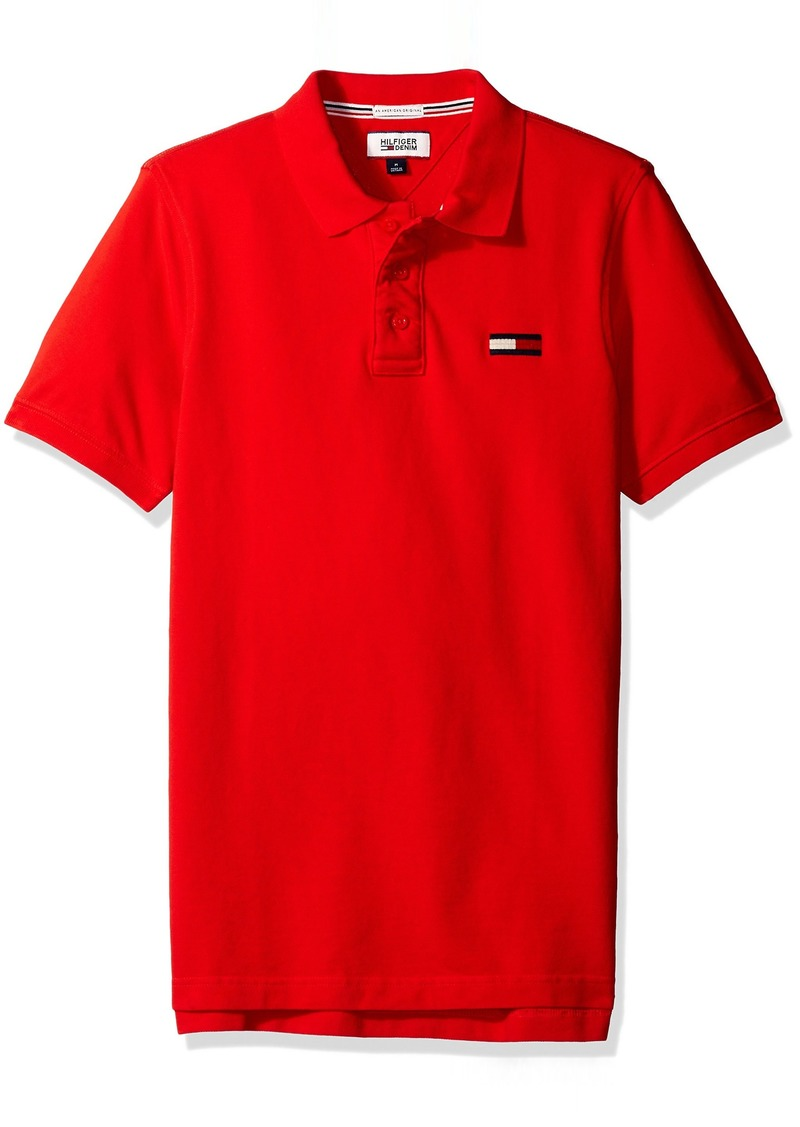 Tommy Hilfiger Denim Men's Basic Big Flag Polo Short Sleeve