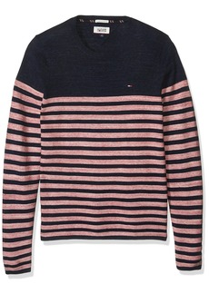 Tommy Hilfiger Denim Men's Basic Crew Neck Sweater Long Sleeve Shirt