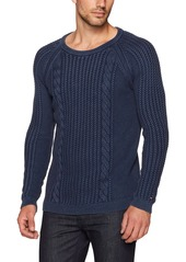 Tommy Hilfiger Denim Men's Cable Long Sleeve Sweater