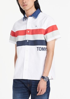 Tommy Hilfiger Denim Men's Custom-Fit Colorblocked Stripe Shirt