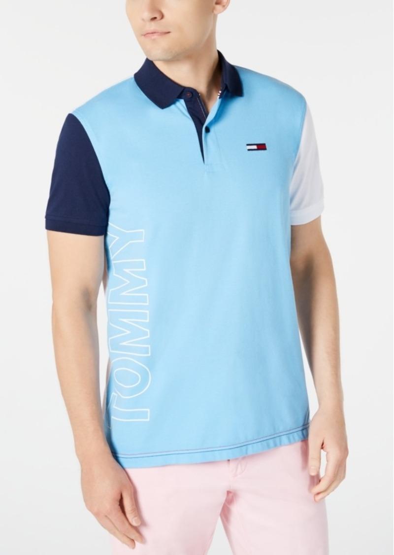 Tommy Hilfiger Denim Men's Grant Custom-Fit Colorblocked Logo Polo