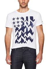 Tommy Hilfiger Denim Men's Logo T-Shirt Stars and Stripes With Short Sleeves
