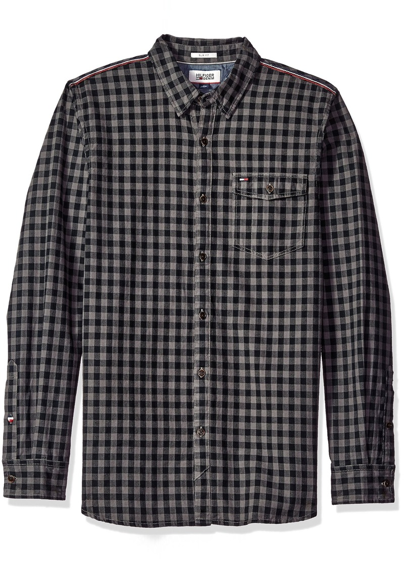 Tommy Hilfiger Tommy Hilfiger Denim Men's Long Sleeve Herringbone ...