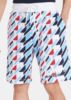Tommy Hilfiger Denim Men's Regular-Fit Geometric-Print Logo Shorts