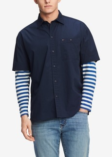Tommy Hilfiger Denim Men's Sidney Oversized Striped-Sleeve Shirt
