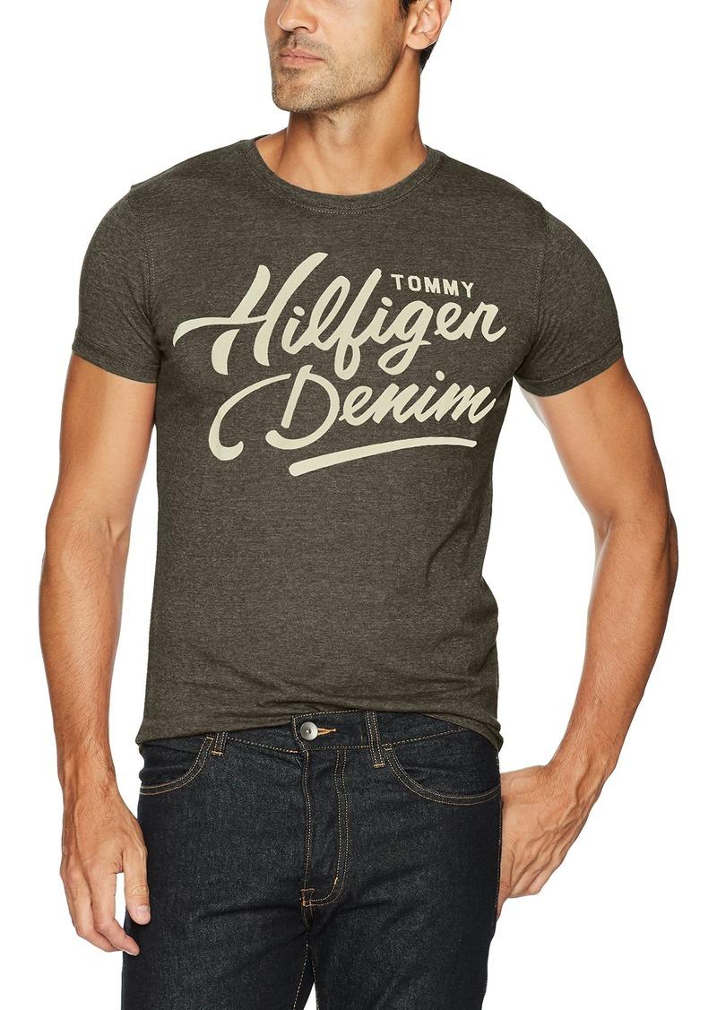 de95dc80 Tommy Hilfiger Tommy Hilfiger Denim Men's T-Shirt Script Logo With ...