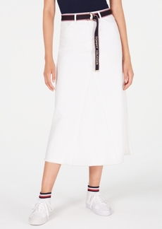 Tommy Hilfiger Denim Midi Skirt, Created for Macy's