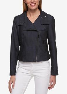 Tommy Hilfiger Denim Moto Jacket, Only at Macy's