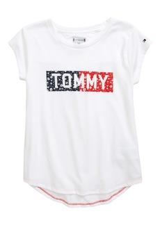 Tommy Hilfiger Ditsy Flag T-Shirt (Big Girl)