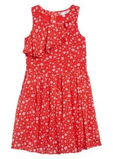 Tommy Hilfiger Ditsy Floral Ruffle Dress (Big Girl)