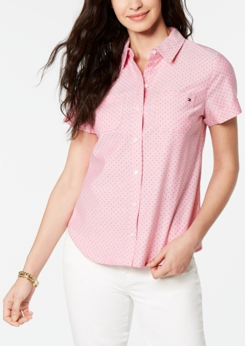 Tommy Hilfiger Dot-Print Button-Down Shirt
