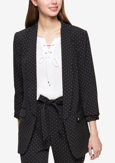 Tommy Hilfiger Dot-Print Ruched-Sleeve Jacket
