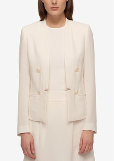 Tommy Hilfiger Double-Breasted Open-Front Blazer