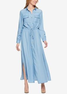 Tommy Hilfiger Drawstring Maxi Shirtdress, Only at Macy's