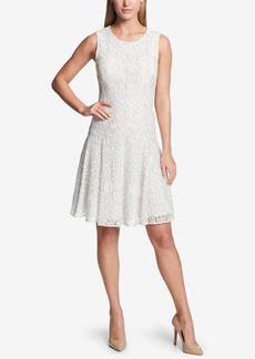 Tommy Hilfiger Drop-Waist Lace Dress