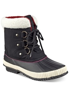 Tommy Hilfiger Ebonie Lace-Up Duck Booties Women's Shoes