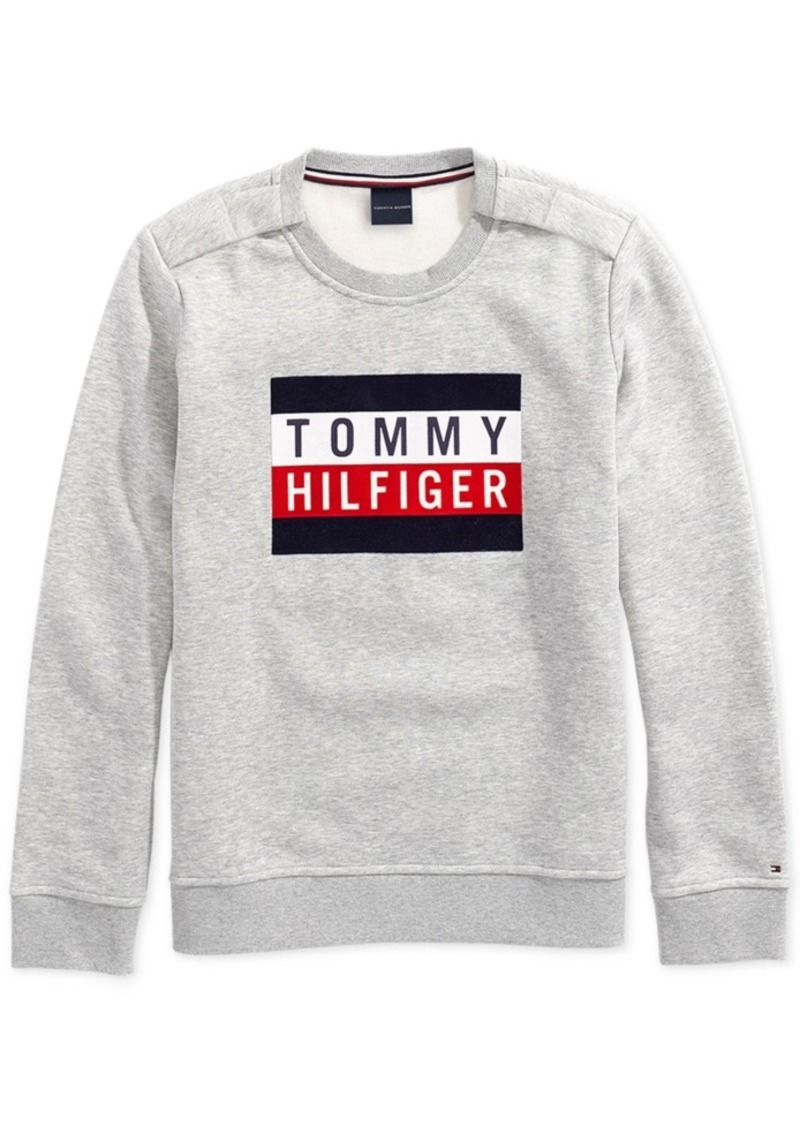 c1211e73581d Tommy Hilfiger Adaptive Women s Electra Flag Sweatshirt with Magnetic  Closures at Shoulders