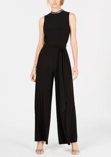 Tommy Hilfiger Embellished Belted Jumpsuit