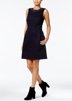 Tommy Hilfiger Embellished Fit & Flare Dress, Only at Macy's