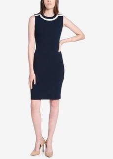 Tommy Hilfiger Embellished-Shoulder Sheath Dress
