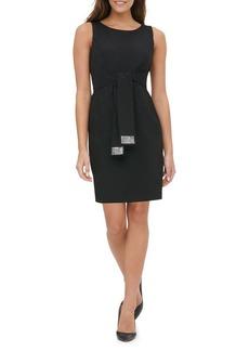 Tommy Hilfiger Embellished Tie-Waist Sheath Dress