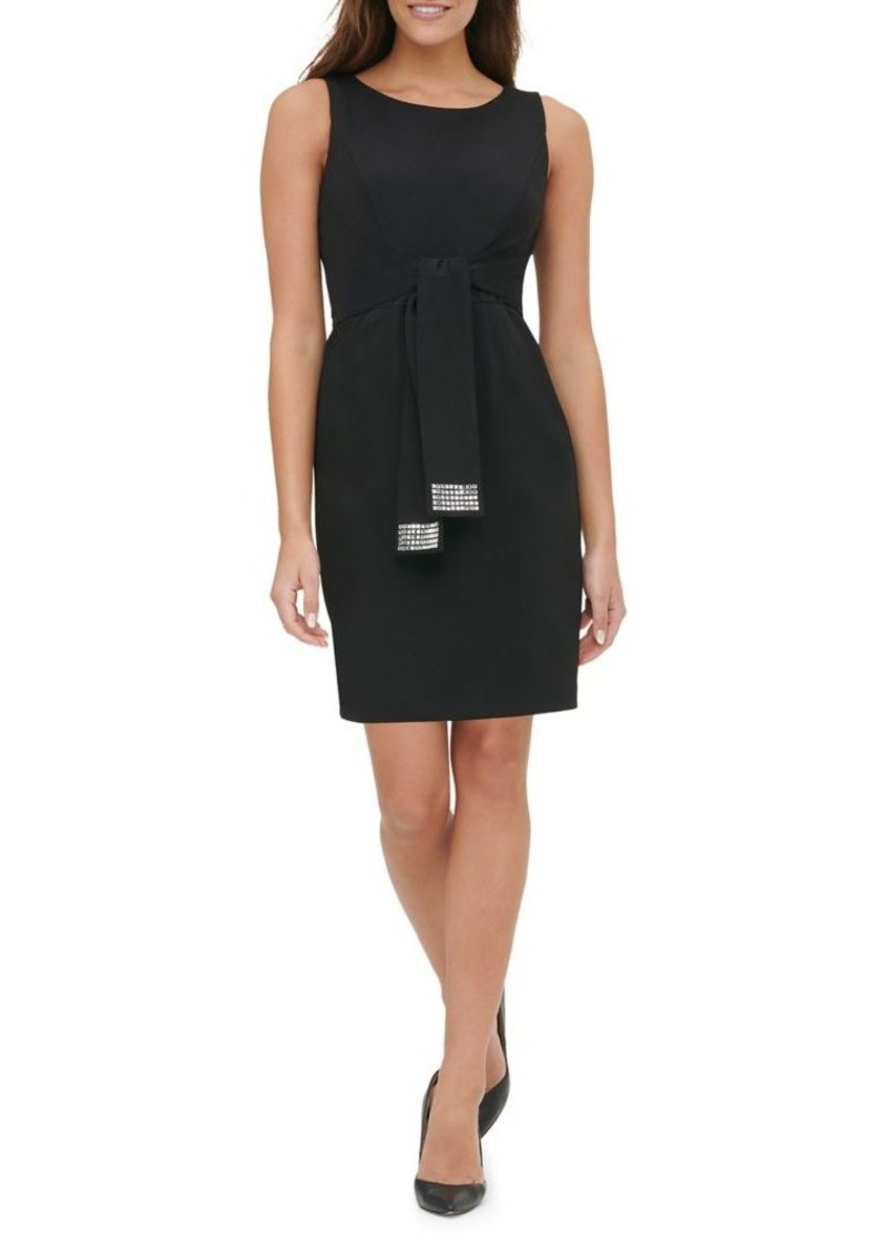 Tommy Hilfiger Embellished Tie-Waist Sheath Dress