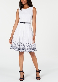 Tommy Hilfiger Embroidered Cotton Dress, Created for Macy's